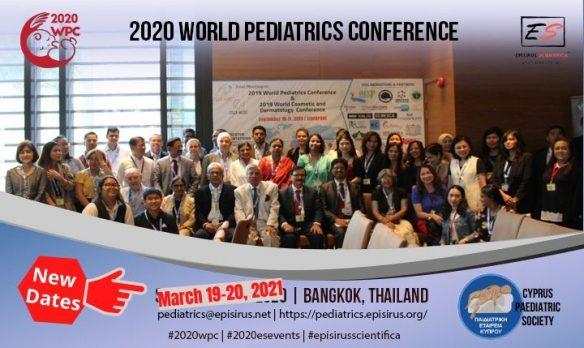 world pediatrics conference new dates march 2021